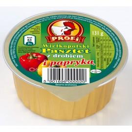 Pastete mit Geflügel und Paprika 131g