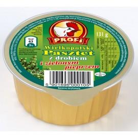 Pastete mit Geflügel und grüne Pfeffer 131g