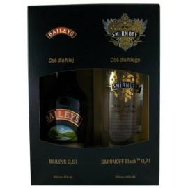 Baileys Creme 0,5L - 17% Vol. Alc + Smirnoff Black 0,7L - 40% Vol. Alc