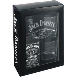 Jack Daniels Whiskey mit zwei Gläser 0,7L - 40% Vol. Alc