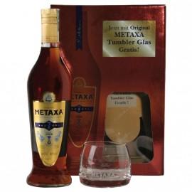 METAXA 7 Stars mit zwei Gläser 0,7L - 40% Vol. Alc