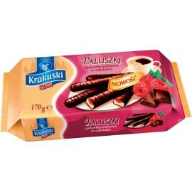 """Krakuski - """"Paluszki"""" - Kuchen mit Himbeergelee im Schokolade 170g"""