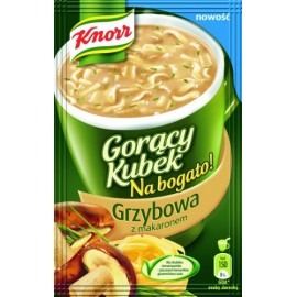 KNORR-Pilzensuppe mit Nudeln