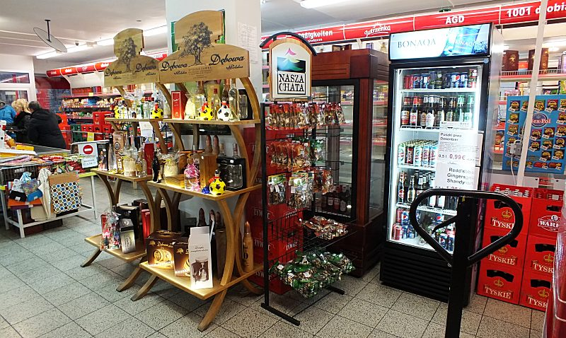 Geschenkverpackungen, Alkohol und gekühlte Getränke